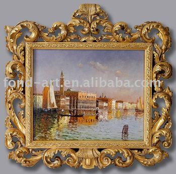483 Antique Gold Framed Oil Painting Frame - Buy Oil Painting With ...
