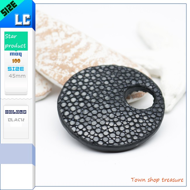 American and European Style Genuine Stingray Leather Earring for Women