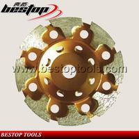 Top Quality Golden T Shape Cut Wheels Diamond With Segment