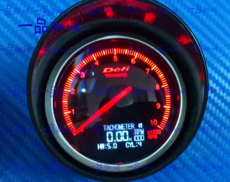 2 5 inch 60mm auto defi gauge bf with lcd auto meter tachometer meter on. Black Bedroom Furniture Sets. Home Design Ideas