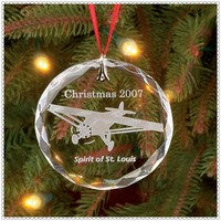 Glass Hanging Christmas Airplane Ornament For Sweety Kid's Gift