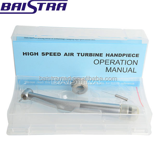 New type Air Driven Push Button Double-Impeller Design 4 holes high speed dental Handpiece