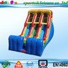 outdoor gaint cheap two lane inflatable dry slide for sale