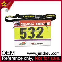 Wholesale Custom Triathlon Running Number Belt Elastic Race Belt Holder