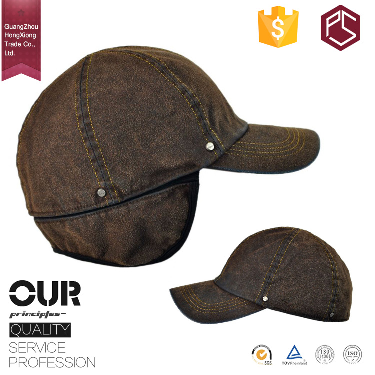 Guangzhou professional factory custom with ear flaps 6 panel blank winter baseball caps for dogs