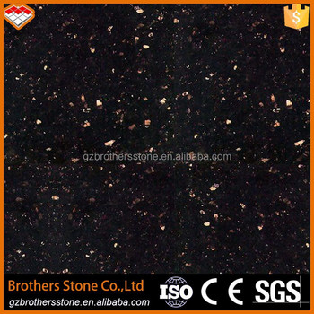 Factory Price Indian Black Gold Granite Galaxy