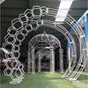 New Model White Metal Rose Wedding Garden Arch For Events