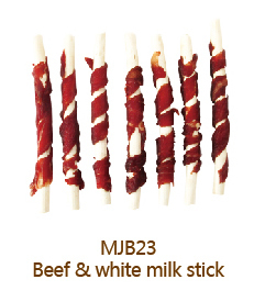 Dental Stick Dog Dental Chews Beef Wrapped White Milk Stick Dry Pet Snack Dry Pet Food for Dog Dog Food Dog Treats