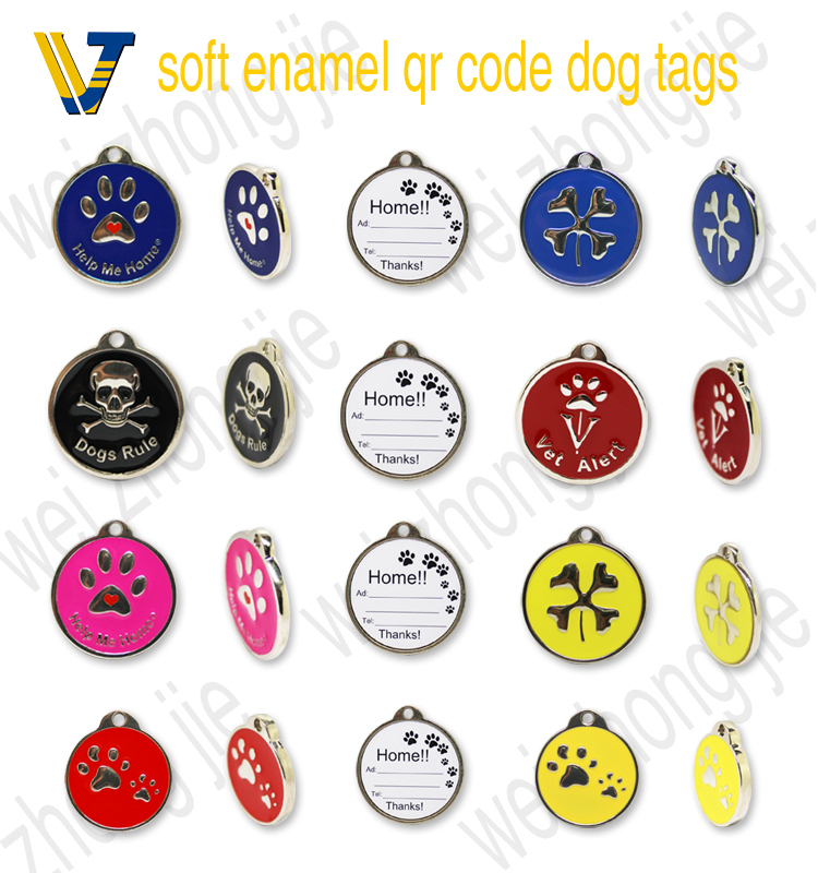 Attractive design pet id tag qr code pet id tag with ce for Qr code dog tag