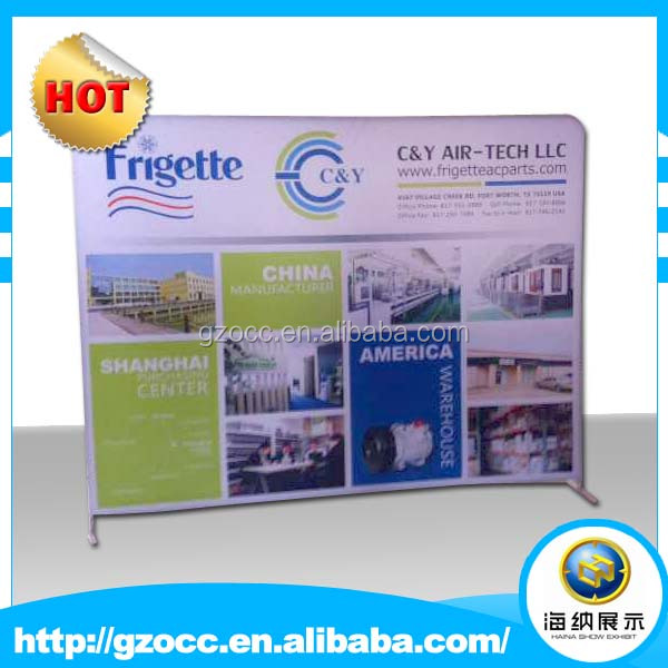 luxury high quality portable sublimation exhibition strecth tension fabric pop up stand road trade show display