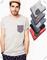 custom Men's Fashion Style T-Shirts with Modern tribal sublimation printing Pocket Hip Hop urban clothing wholesale