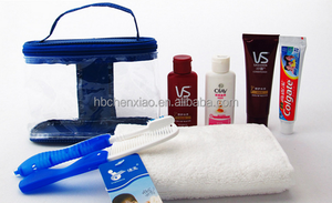 Travel hygiene kit shampoo,toothbrush with PVC bags