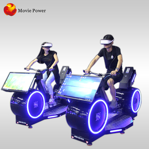Hot sell fitness and funny instrument bike 9d vr bike ride flexible moving and easy operation