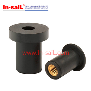 Standard rubber rivet nuts with threaded insert