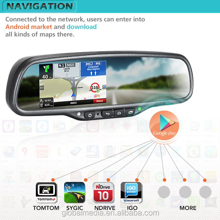 Garmin Android Gps For Bmw E39 With 4.3inch Touch Screen Monitor ...