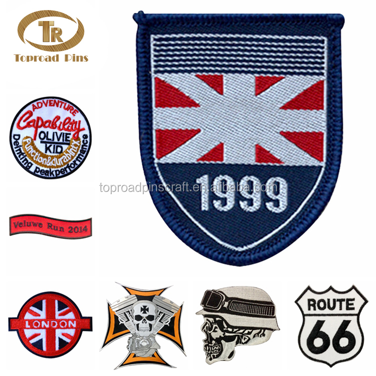 China direct factory customized embroidery patches for clothes