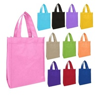 Custom color eco friendly recyclable mini non woven tote bags