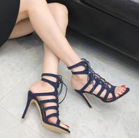 sh10912a Blue color women hollowed out heels shoes wholesale 2019 sexy and quality pump shoes