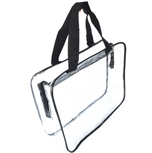Wholesale Custom Low MOQ Discounted See Through Clear Transparent PVC Vanity Bag