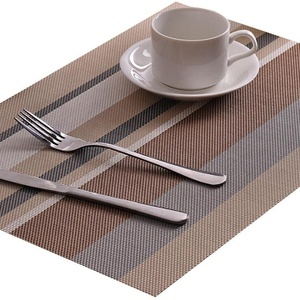45*30CM Table Mat Rectangular PVC Non-Slip Bowl Plate Cup Pads Braided Placemat Heat Insulation Pad Kitchen Accessories