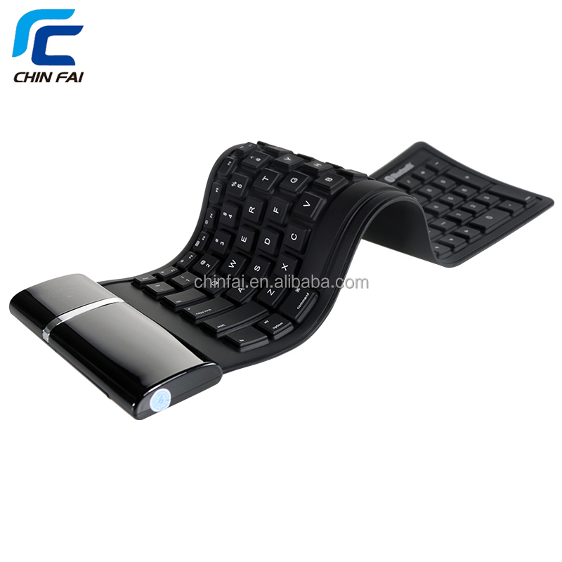 CE ROHS FCC Flexible Keyboard Silicone Bluetooth keyboard For iPad,PC,laptop,desktop wireless keyboard for ipad air