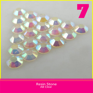 Wholesale Resin Stones Flatback Hot Fix SS6 2mm Clear AB Round Stones for Shoes