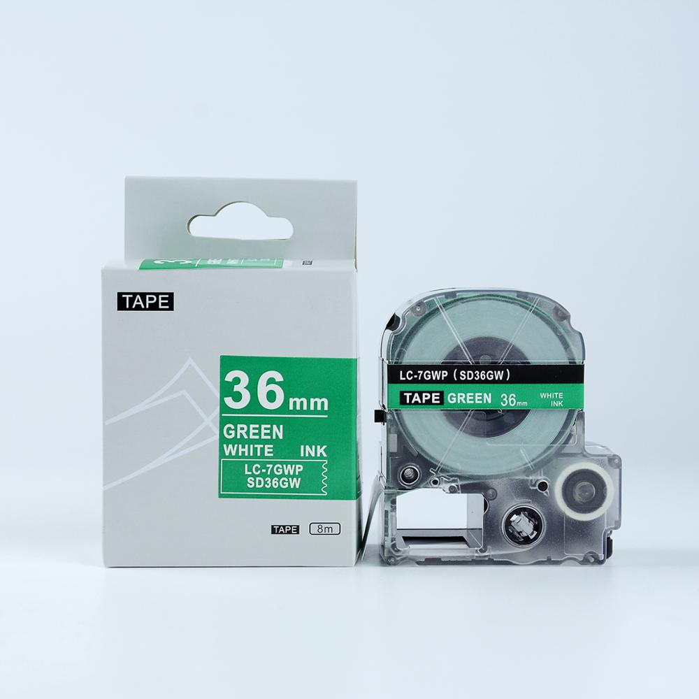 Fast Delivery 36MM Black on Green LabelWork LK/LC TEPRA Tape Cassette