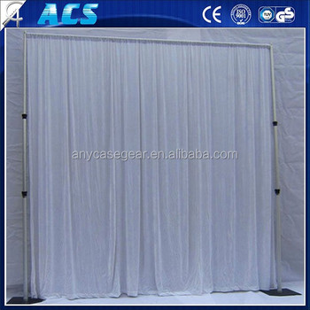 Fireproof And Flexible Wedding Background Curtain/wall Drapes/telescope  Backdrop Stand