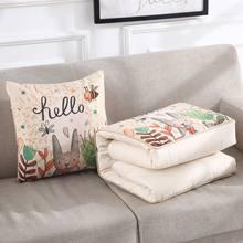 Многофункциональная подушка для дома, многоцветная Подушка с мультипликационным принтом, 100x150 см, Офисная подушка двойного назначения, бес...(Китай)