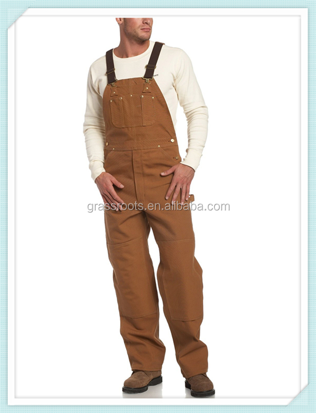 Polyester/cotton work bib overalls black design men work bib overalls