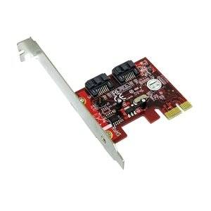 "Addonics Technologies - Addonics Ad2sa6gpx1 2-Port Sata Pci Express 2.0 X1 Controller - 2 X 7-Pin Serial Ata/600 Serial Ata Internal - Pci Express 2.0 X1 ""Product Category: I/O & Storage Controllers/Serial/Ultra Ata Controllers"""