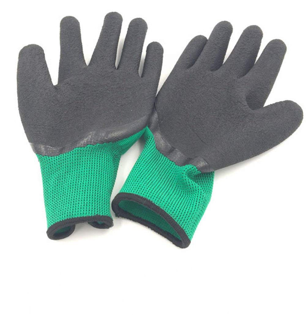 ANHPI Hamster Anti-bite Anti-scratch Anti-chewing Anti-skid Protection Gloves Green,Green-Onesize