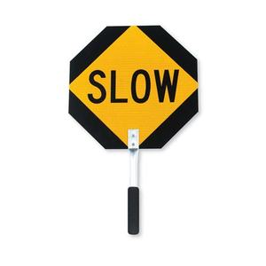 Road Traffic Productstop Of Slow Sign Paddles