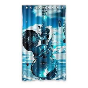 "Custom Guitar Blackout Panel Curtain Polyester 50""x84"" 1 Panel"