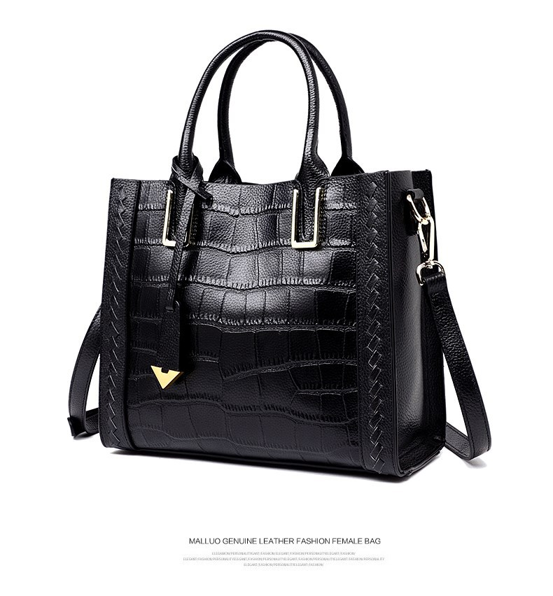 2019 NEW Fashion  Lady Trends Crocodile Pattern Genuine Leather Embossed Women Handbags