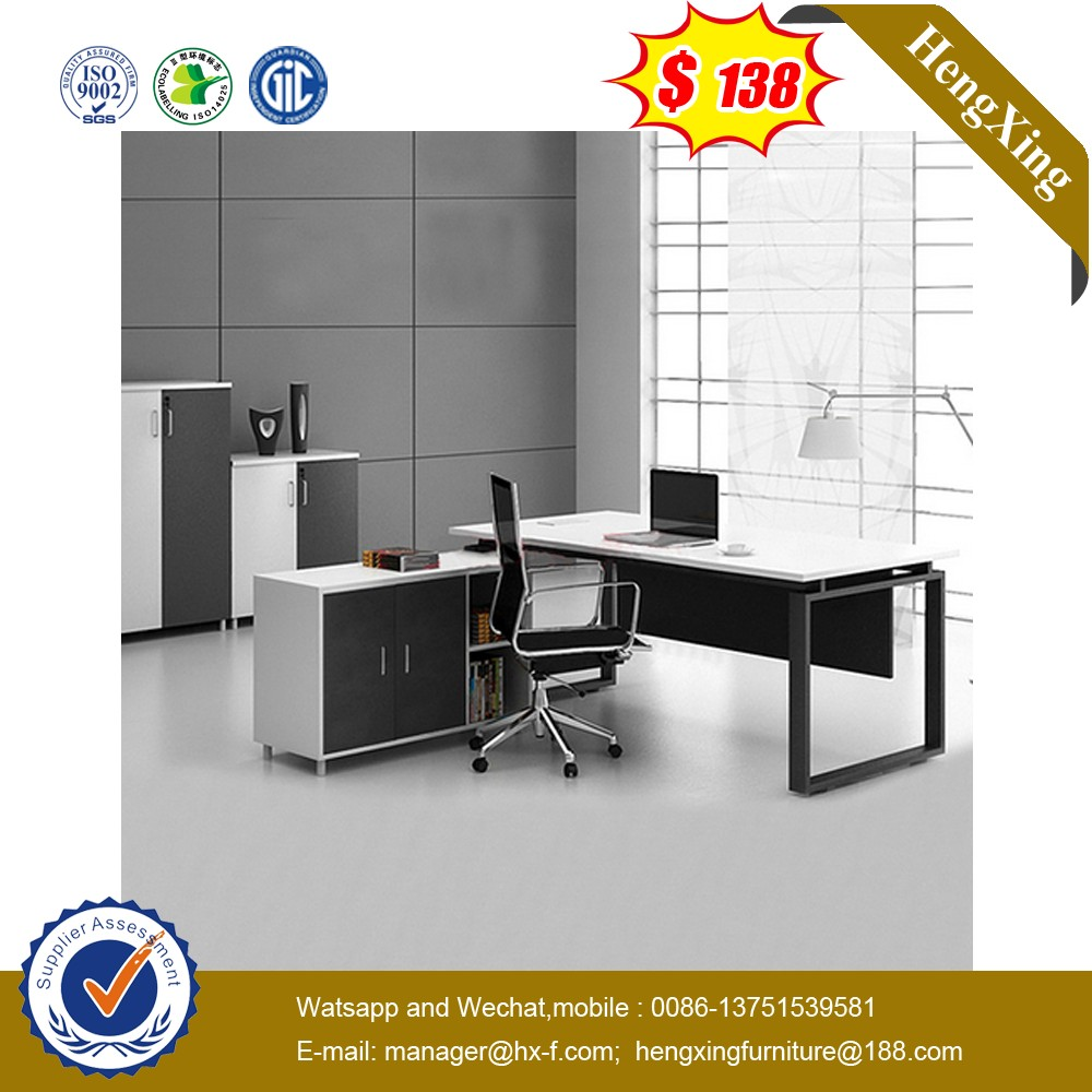 New Design Durable office table models With File Cabinet(UL-MFC515)