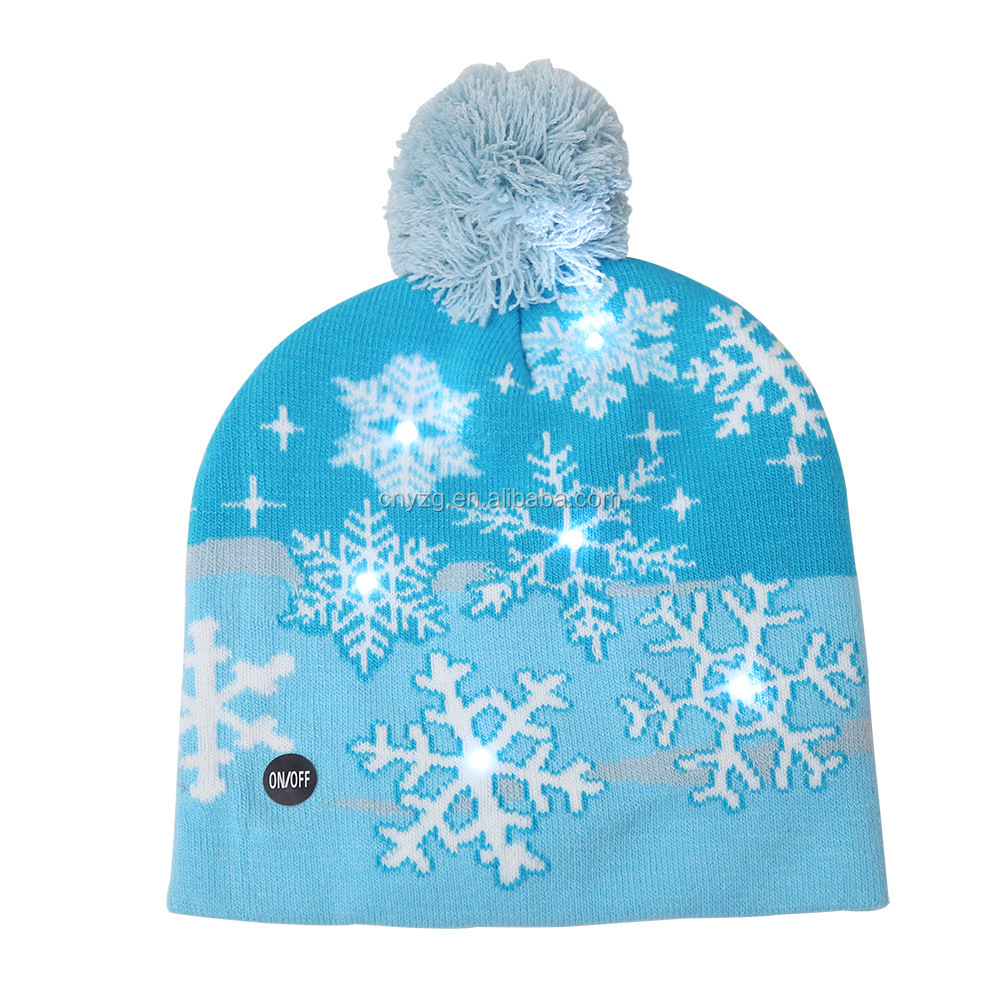 SOOTOP Navidad LED Light Up Hat Beanie Gorro de Punto Luces LED de Navidad Sombrero Gorro Su/éter Feo de Navidad Sombrero para Disfraz