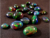 Natural Ethiopian Black Opal Mix Shapes Cabochon Loose Gemstones