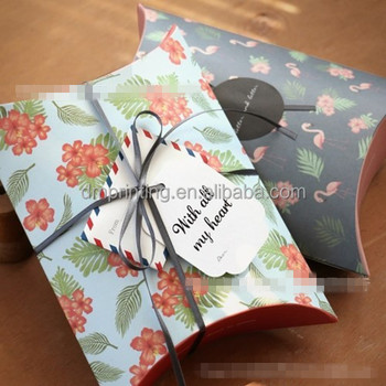 Flower printing gift pillow box for perfume