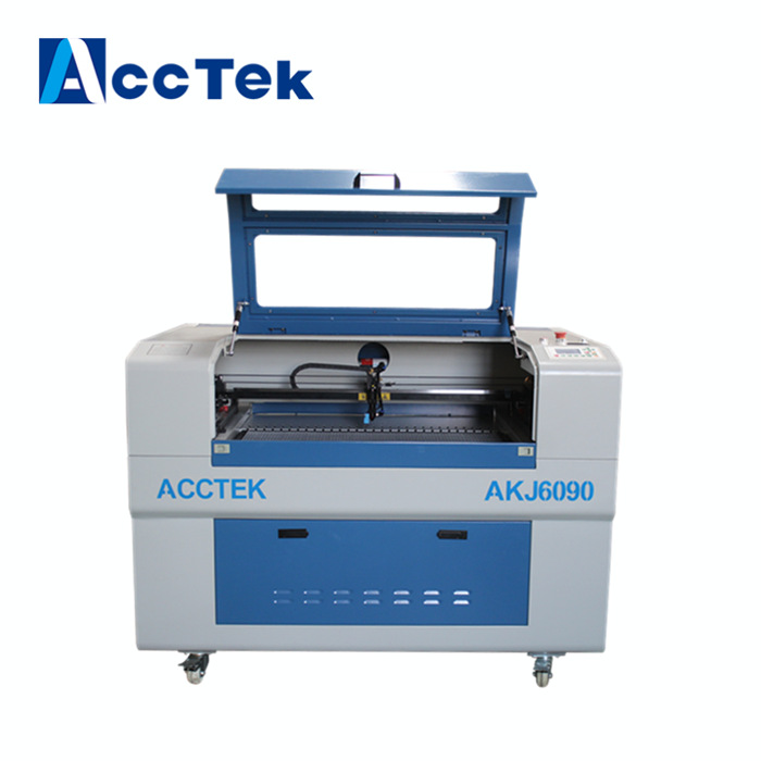 Low price professional automatic continunous cutting label laser machine AKJ6090