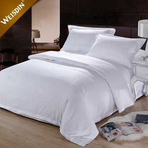 Guangzhou wholesale plain 100% cotton bedding set/bed sheets/quilt cover/pillow case