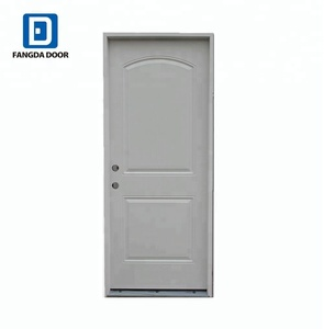 Fangda arch top 2 panel interior steel house door model