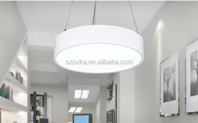 led kroonluchter kantoor verlichting moderne eenvoudige studie restaurant ronde opknoping lijn verlichting lampen commercile verlichting