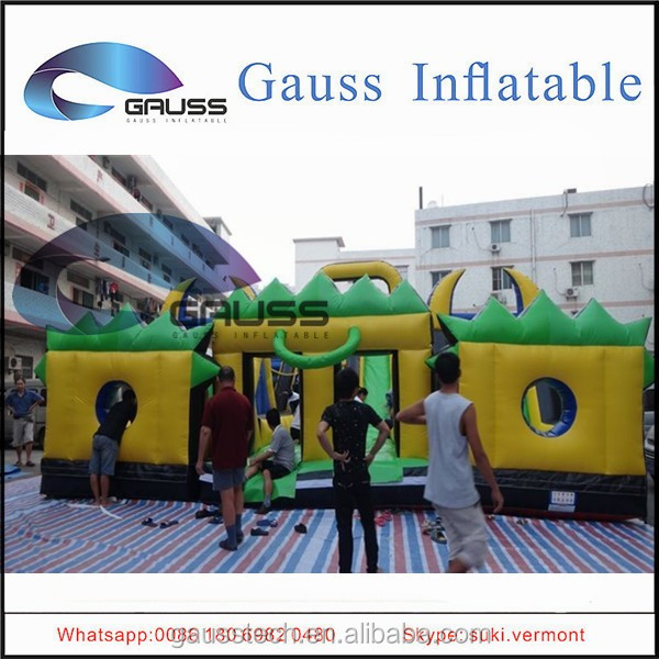 China Factory inflatable rush obstacle/inflatable water obstacle course for sale