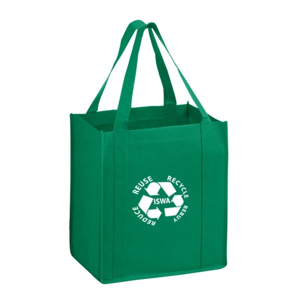 Promotional custom printed durable eco friendly non woven reusable green bag