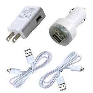 Buy Simply Silver - 2A Car Charger AC/DC Wall Power Adapter for