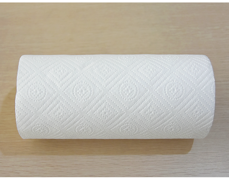 HOZHONG High quality embossed Soft skin cheap kitchen towel hand towel toilet paper custom kitchen towel paper roll