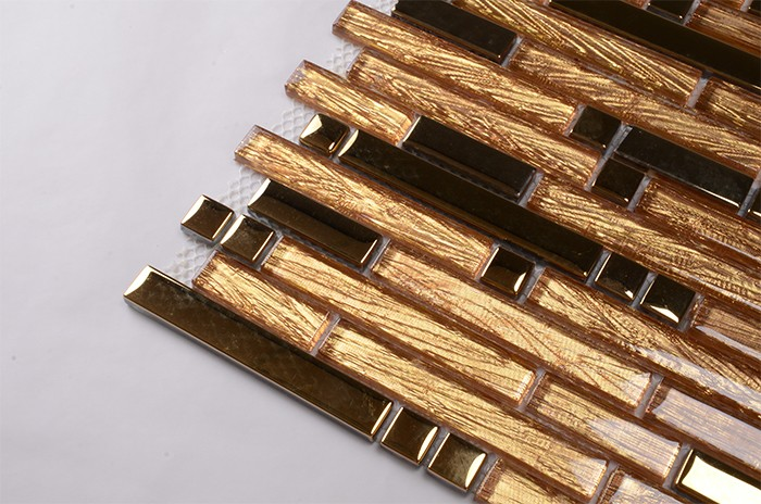 Golden strip mirror and glass dreaming here