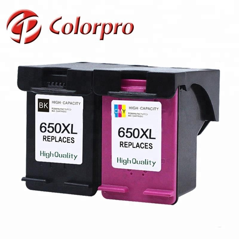 Vendita calda cartuccia di inchiostro Remanufactured Colorpro 650xl cartuccia di inchiostro