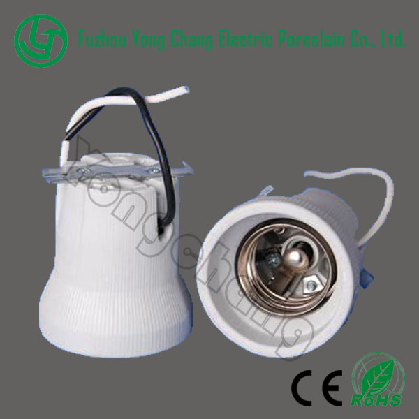 e40 lampholder with wire ceramic lamp socket lampbase